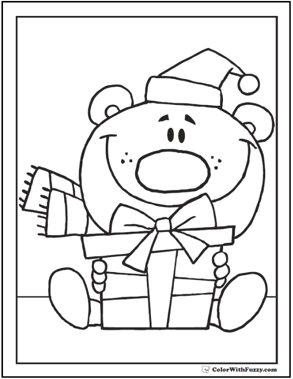 Teddy Bear Birthday Coloring