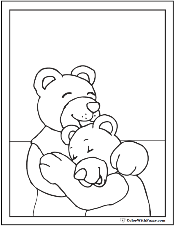 Teddy Bear Coloring Love!