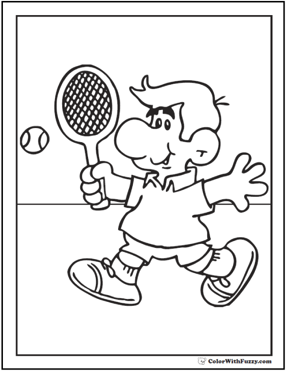 tennis coloring page - Sport Pictures To Color