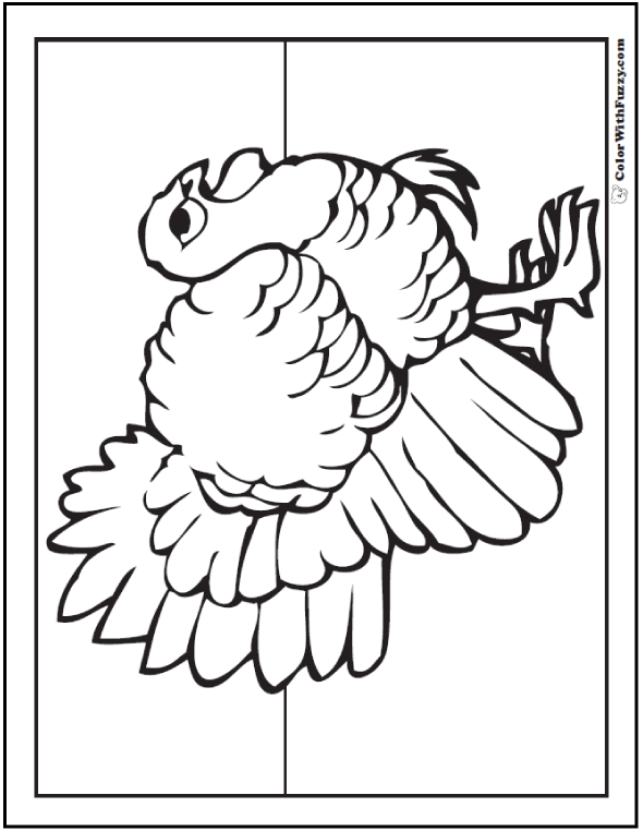 Watchful Turkey Thanksgiving Coloring Page