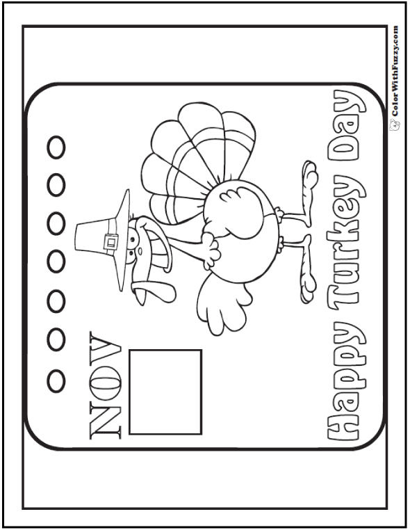 Thanksgiving Printable Banner: Happy Turkey Day