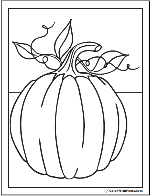thanksgiving pumpkin coloring sheet pumpkin with leaves
