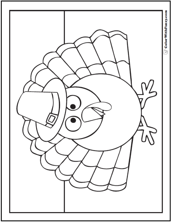 Thanksgiving Turkey Pilgrim Printable