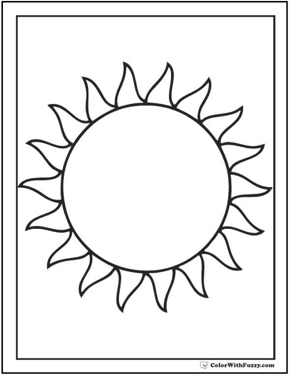 the sun coloring page - Sun Coloring Page