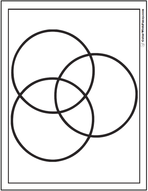 Shape coloring pages customize and print for Circle coloring page