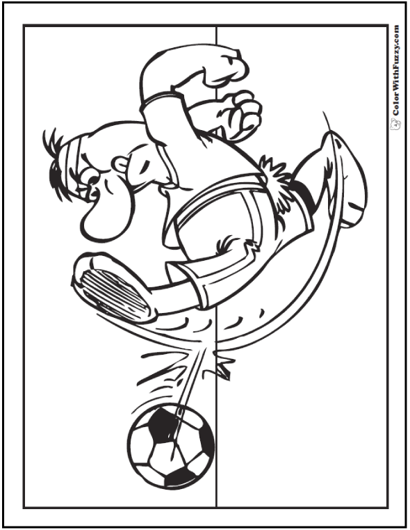 Tough Guy Soccer Coloring Sheet