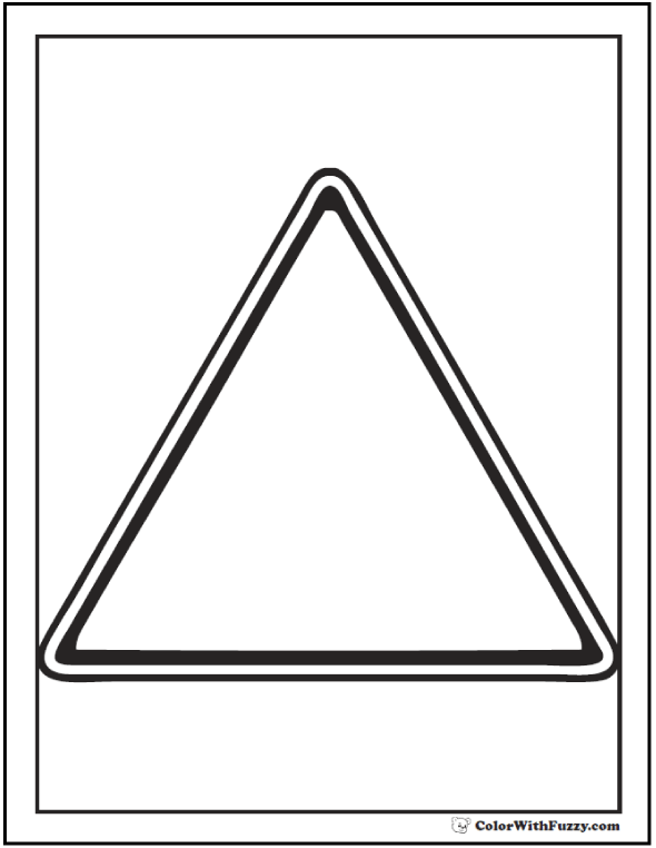triangle coloring pages for toddlers - Triangle Instrument Coloring Page
