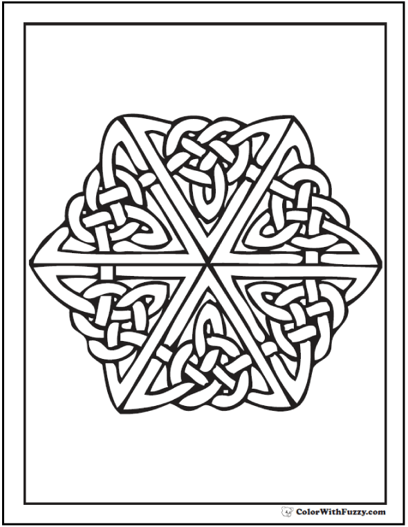 Trinity Knot Celtic Coloring Page: great for St. Patrick's Day.