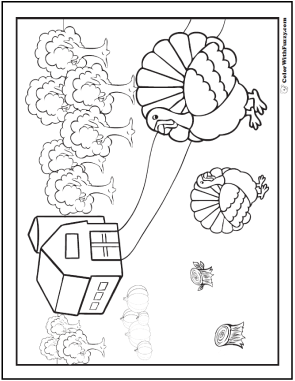 30 turkey coloring pages interactive pdfs for Virtual coloring pages