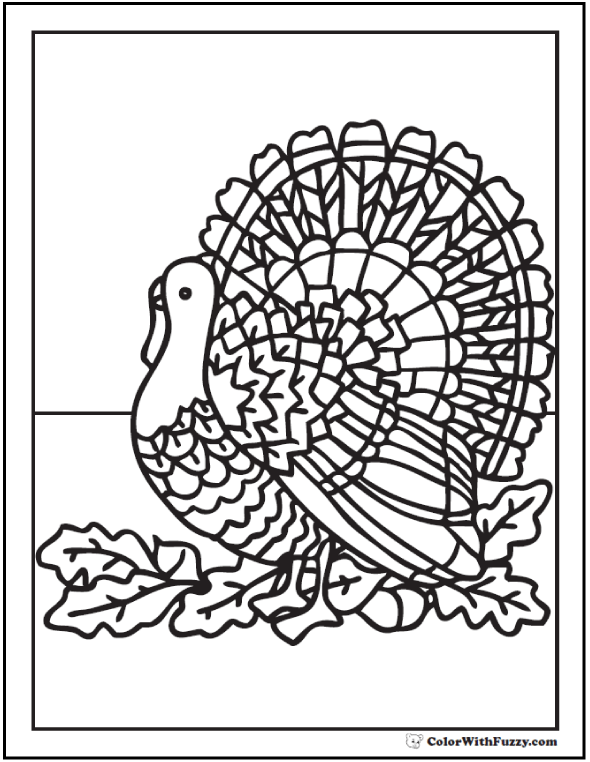 turkey wattle coloring pages - photo#11