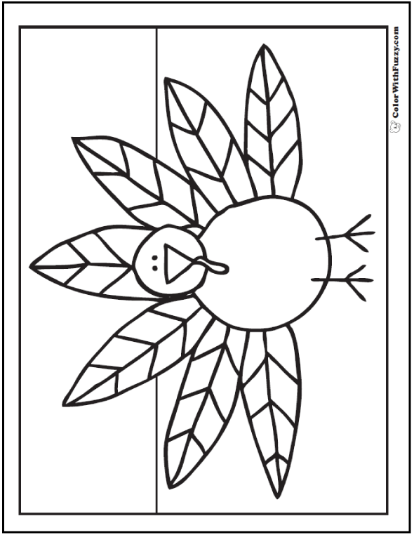 turkey wattle coloring pages - photo#30