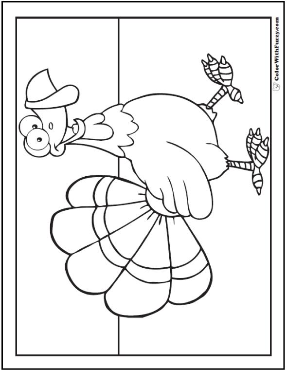 Turkey Strut Coloring Picture