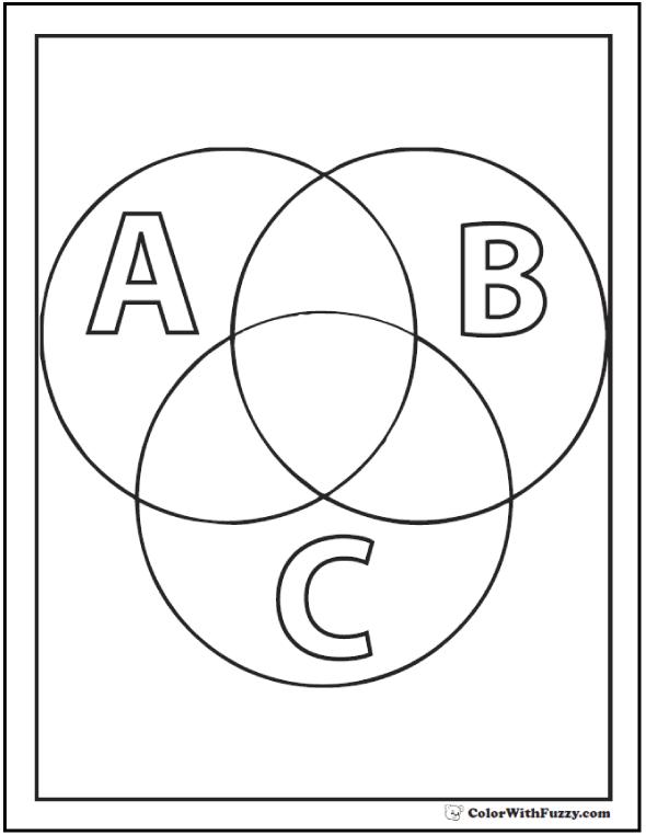 Three Circles Labeled ABC