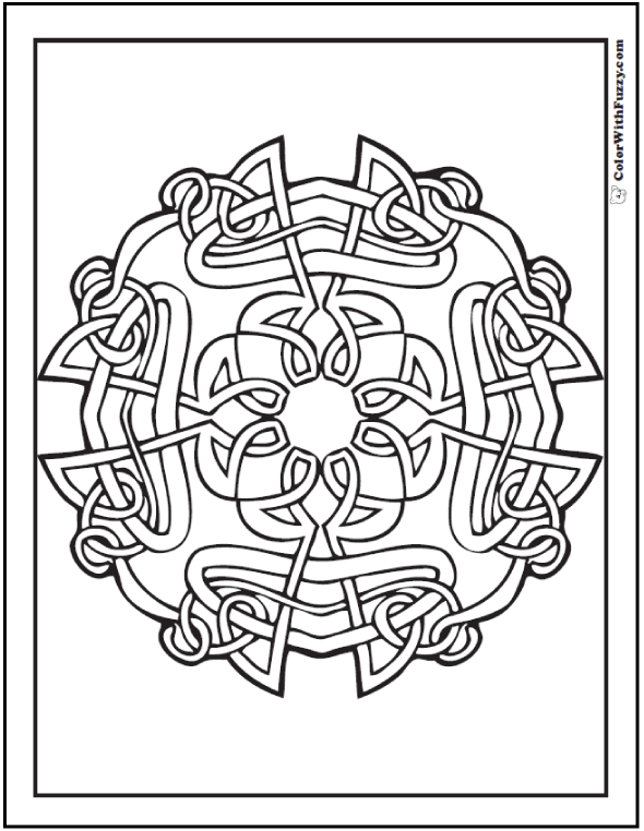 Vine Celtic Coloring Page: #PrintableColoringPages at ColorWithFuzzy.com