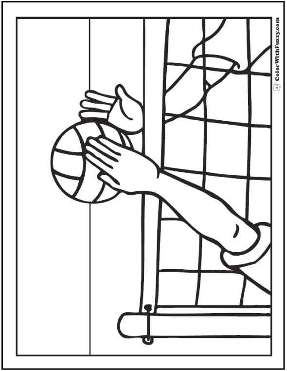 PDF Volleyball Coloring Sheet