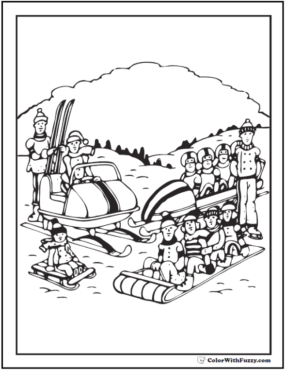 All Around Winter Sports Coloring Pages