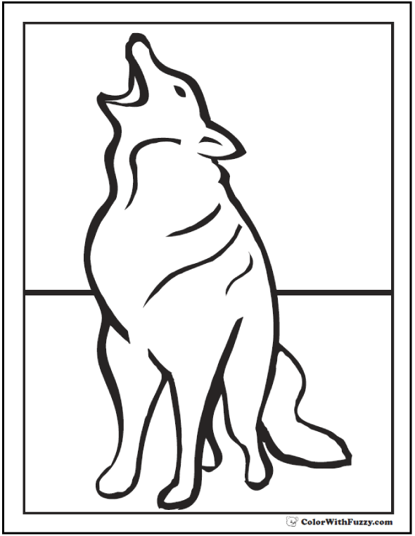 Howling Wolf Printable