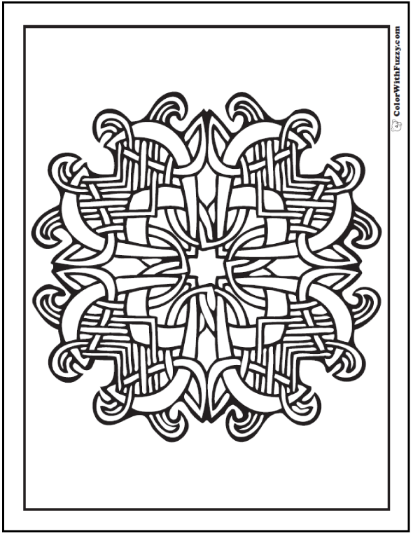 ColorWithFuzzy.com Celtic Coloring Pages: Woven Celtic Design