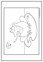 Flycatcher frog coloring page.