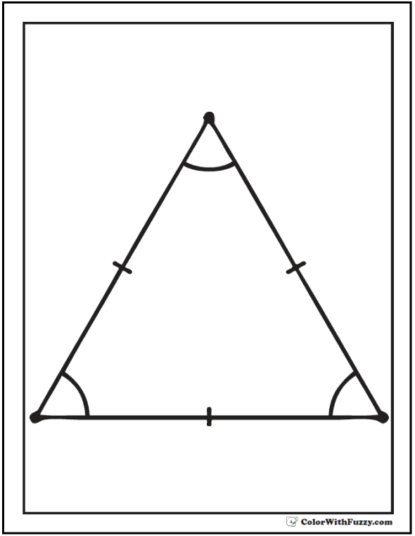 triangle coloring page 1