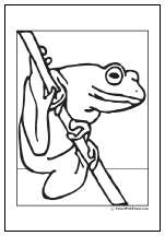 Climbing frog coloring page.