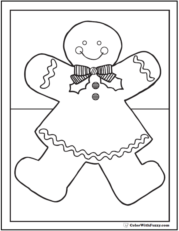 Gingerbread Girl Coloring Page