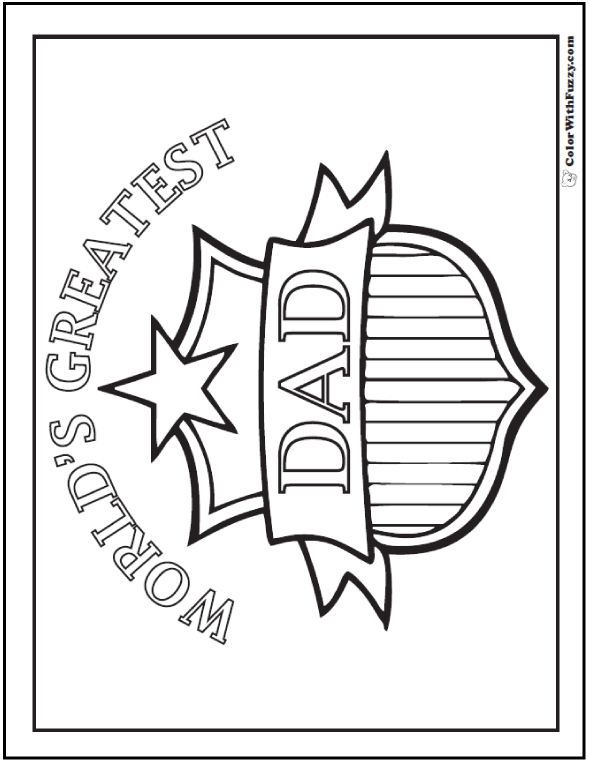 Birthday Daddy Coloring Page