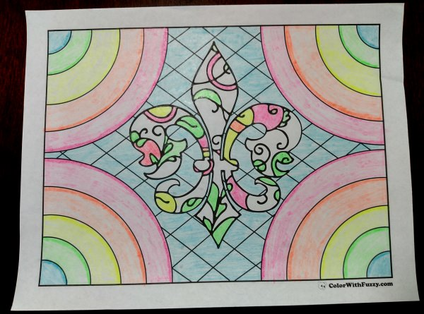Adult Coloring Page: Floral Geometric