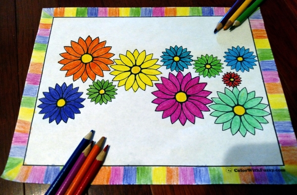 Pretty daisy flower coloring pages!
