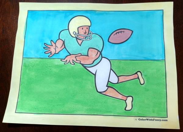 Awesome American Football Coloring Pages