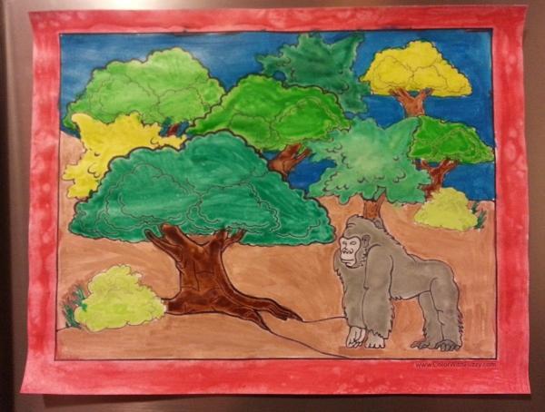 Gorilla Coloring