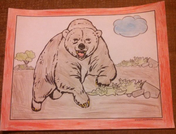 Exciting Grizzly Bear Coloring Page!