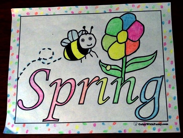 April Coloring Pages Preschool : Spring flowers coloring page customizable printables