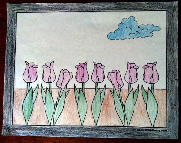 Tulip Flower Coloring