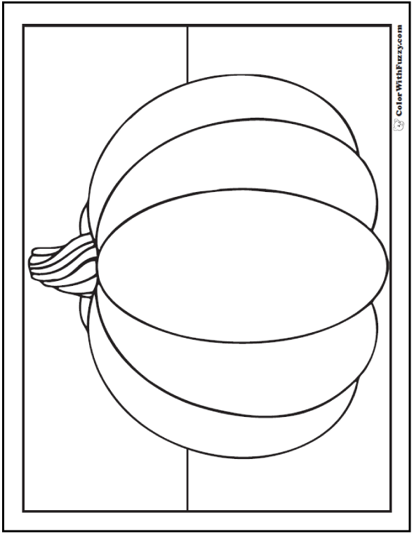 Pretty Pumpkin Coloring Pages