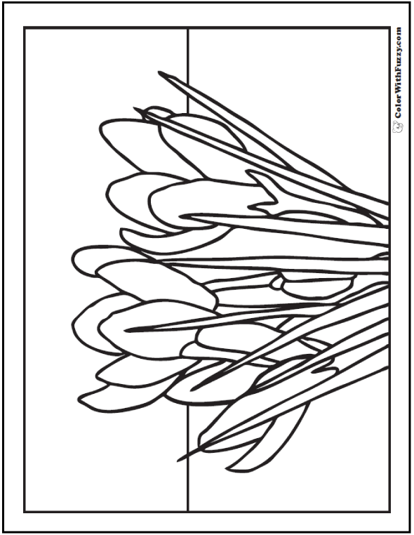 Cluster of Crocus - Spring Flower Coloring Page