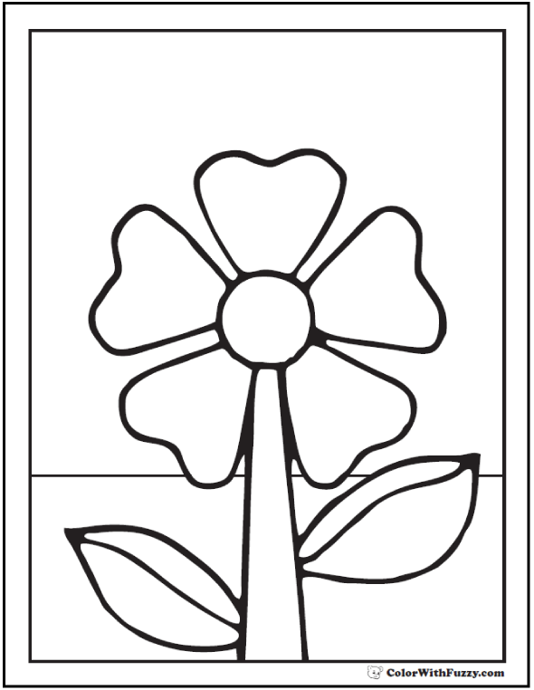 Kids Spring Flower Coloring Pages