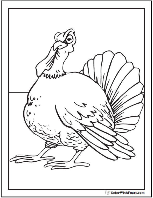 Young Turkey Coloring Sheet